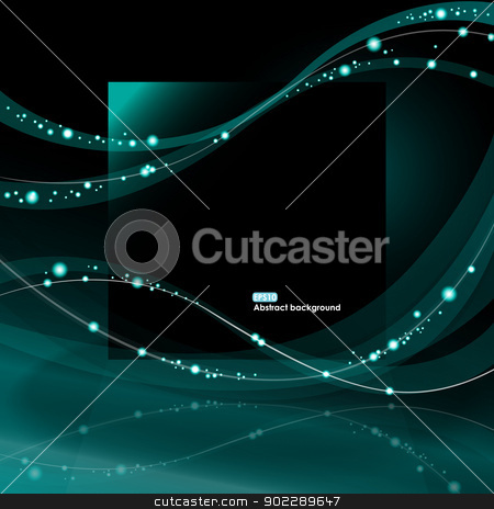 Abstract EPS10 glowing waves background stock vector clipart, Abstract EPS10 vector glowing waves on the dark background by Allaya
