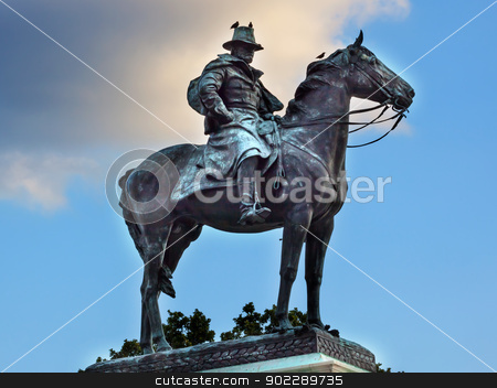 US Grant Statue Civil War Memorial Capitol Hill Washington DC stock photo, Ulysses US Grant Equestrian Statue Civil War Memorial Capitol Hill Washington DC.  Created by Henry Shrady and dedicated in 1922.  Second largest equestrian statue in the US.  Grant is riding Cincinnati, his famous horse.   by William Perry