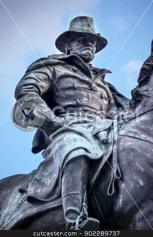US Grant Statue Civil War Memorial Capitol Hill Washington DC stock photo, Ulysses US Grant Equestrian Statue Civil War Memorial Capitol Hill Washington DC.  Created by Henry Shrady and dedicated in 1922.  Grant has a calm face as he was in battle.   by William Perry