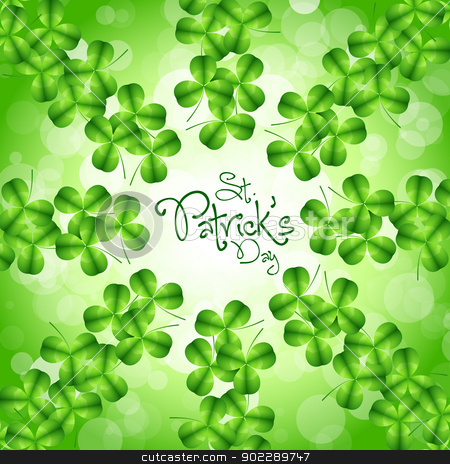 St. Patricks Day Card stock vector clipart, St. Patricks Day Card with Green Background by Vadym Nechyporenko