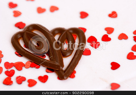 Chocolate hearts stock photo,  by wen777