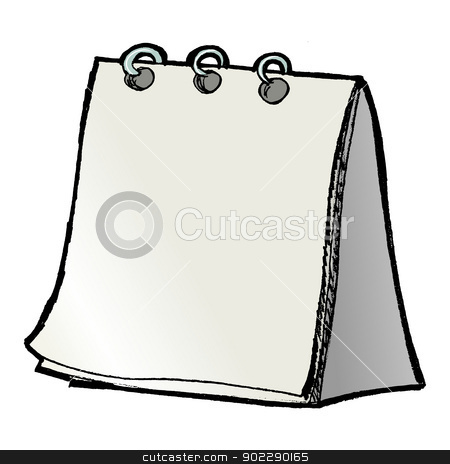 blank calendar stock vector clipart, hand drawn, vector, sketch illustration of blank calendar by Oleksandr Kovalenko