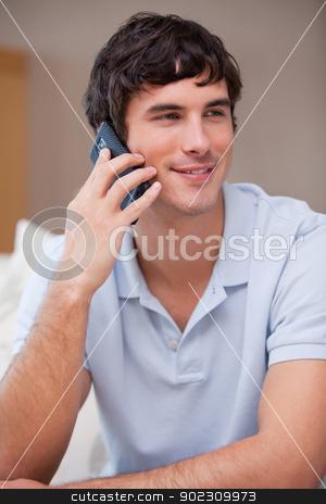 Man answering phonecall