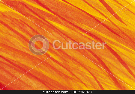 fire flames watercolor abstract stock photo, watercolor paper texture with red, yellow and orange flames by Marek Uliasz