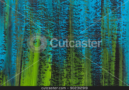 blue, green, black abstract stock photo, blue, green and black watercolor paper texture with veritcal brush strokes by Marek Uliasz