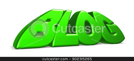 cartoon blog stock photo, the word blog in cartoon letters - 3d illustration by J?