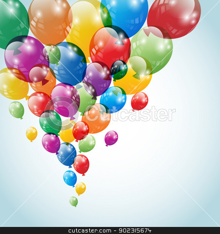 Balloons stock vector clipart, Balloons flying in the air. No mesh items. Screen  blend mode. EPS 10 vector file. / Balloons by Bagiuiani Kostas