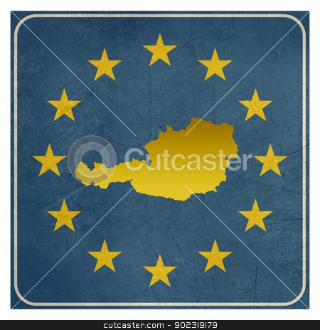 Austria European sign stock photo, Austria European sign isolated on white background with copy space.  by Martin Crowdy