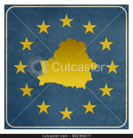 Belarus European sign stock photo, Belarus European sign isolated on white background with copy space.  by Martin Crowdy