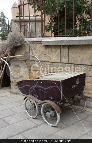 old antique baby chair stock photo, old antique things that from market for sell by melih turhanlar