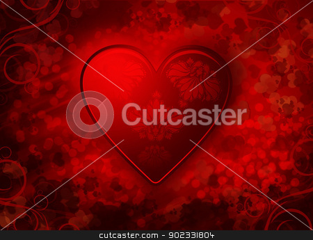 Valentines Background stock photo, Red Valentines Background With Hearts by Olga Altunina