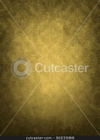 Vintage Old Background stock photo, Floral Grunge Brown Old Vintage Background by Olga Altunina