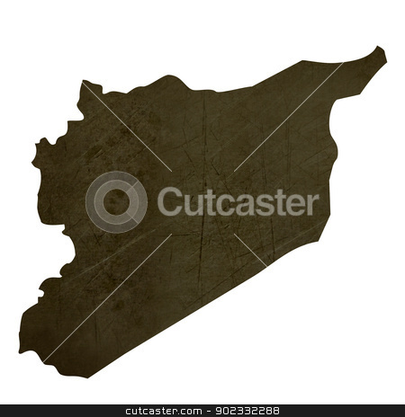 Dark silhouetted map of Sri Lanka stock photo, Dark silhouetted and textured map of Sri Lanka isolated on white background. by Martin Crowdy
