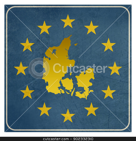 Denmark European sign stock photo, Denmark European sign isolated on white background with copy space.  by Martin Crowdy