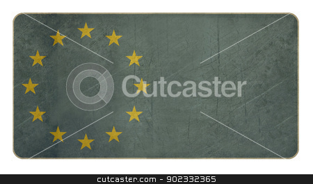 European flag stock photo, European flag isolated on white background with copy space.  by Martin Crowdy