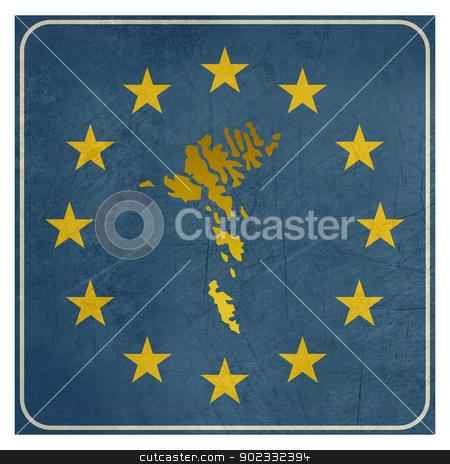 Faroe Islands European sign stock photo, Faroe Islands European sign isolated on white background with copy space.  by Martin Crowdy