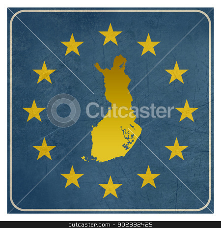 Finland European sign stock photo, Finland European sign isolated on white background with copy space.  by Martin Crowdy