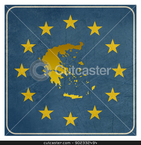 Greece European sign stock photo, Greece European sign isolated on white background.  by Martin Crowdy