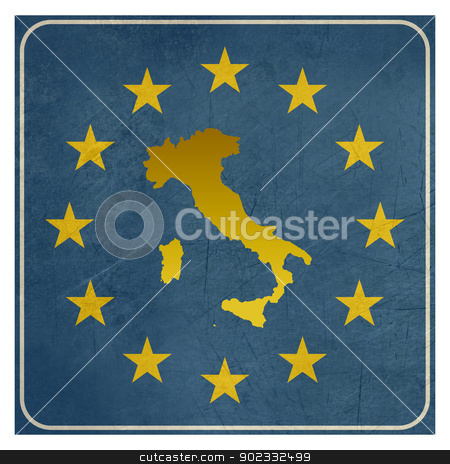Italy European sign stock photo, Italy European sign isolated on white background. by Martin Crowdy