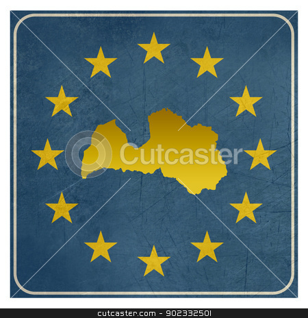 Latvia European sign stock photo, Latvia European sign isolated on white background.  by Martin Crowdy