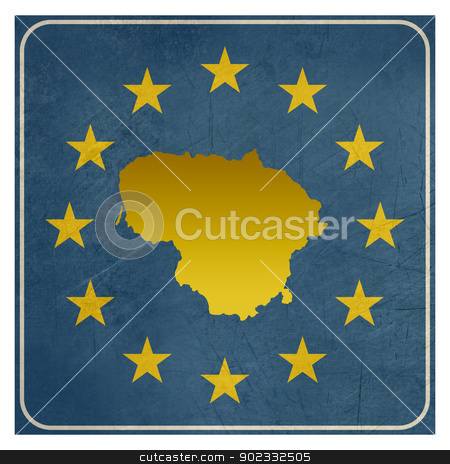 Lithuania European sign stock photo, Lithuania European sign isolated on white background.  by Martin Crowdy