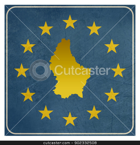 Luxembourg European sign stock photo, Luxembourg European sign isolated on white background.  by Martin Crowdy