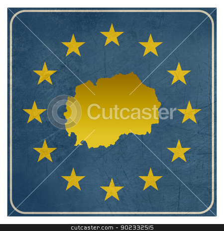 Macedonia European sign stock photo, Macedonia European sign isolated on white background.  by Martin Crowdy