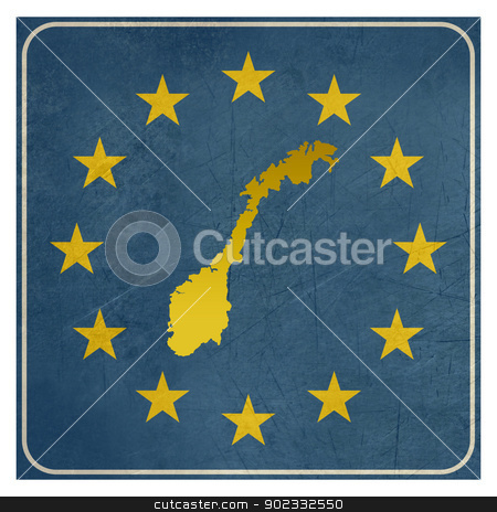 Norway European sign stock photo, Norway European sign isolated on white background.  by Martin Crowdy