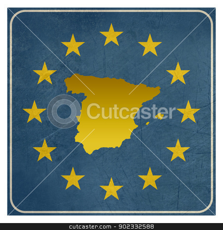 Spain European sign stock photo, Spain European sign isolated on white background. by Martin Crowdy