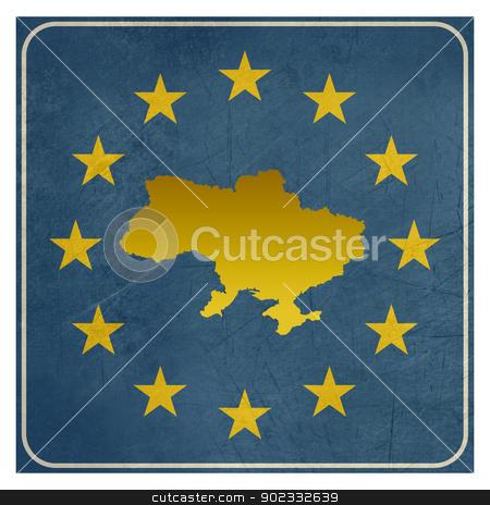 Ukraine European sign stock photo, Ukraine European sign isolated on white background.  by Martin Crowdy