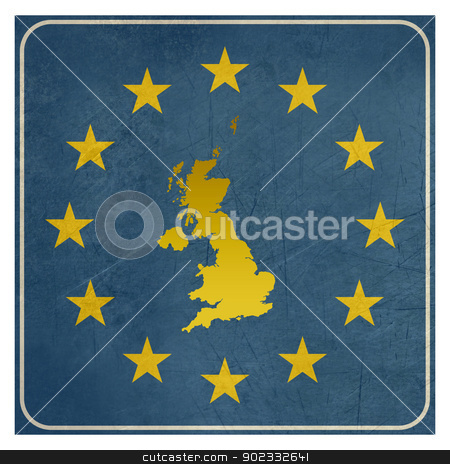 United Kingdom European sign stock photo, United Kingdom European sign isolated on white background.  by Martin Crowdy