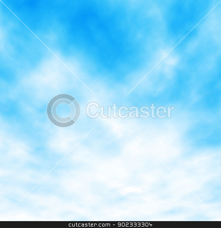 White clouds stock vector clipart, Editable vector illustration of white clouds in a blue sky made with a gradient mesh by Robert Adrian Hillman