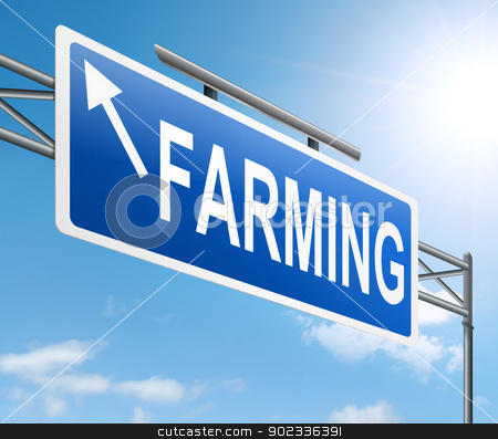 Farming concept. stock photo, Illustration depicting a sign with a farming concept. by Samantha Craddock