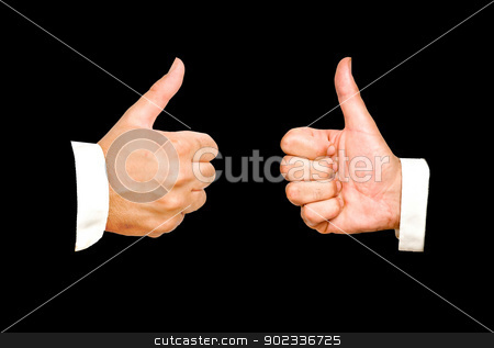 Approval gesture stock photo, Approval gesture by vaeenma