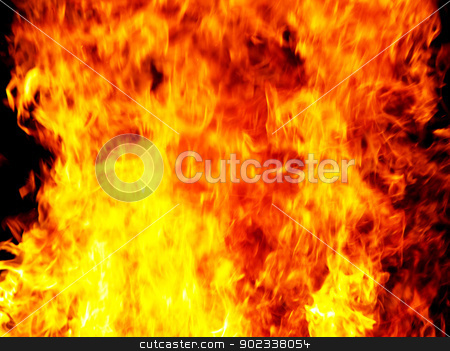 flame  stock photo, Flame of fire in a night-time     by Vitaliy Pakhnyushchyy