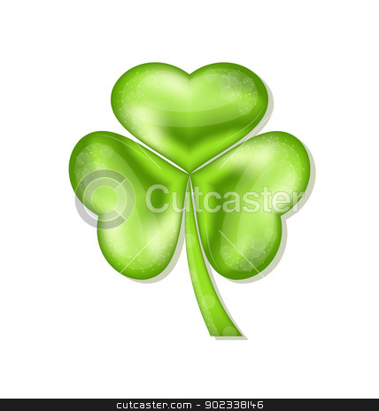 Shamrock isolated for Saint Patrick day stock vector clipart, Illustration shamrock isolated for Saint Patrick day - vector  by -=Mad Dog=-