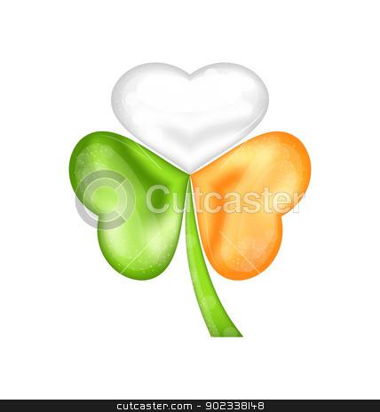 Shamrock in Irish flag color for saint patrick day stock vector clipart, Illustration shamrock in Irish flag color for saint patrick day - vector  by -=Mad Dog=-