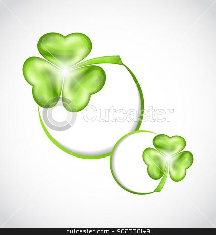 Shamrock bubbles for Saint Patrick day