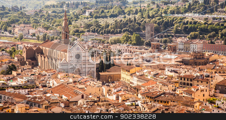 Florence panoramic view stock photo, Florence, Italy: panoramic view from the top of Duomo church by Perseomedusa