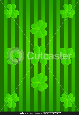 St Patricks Day Abstract backdrop stock photo, St Patricks Day Abstract backdrop whith three-leaf clover by Anatolii Vasilev