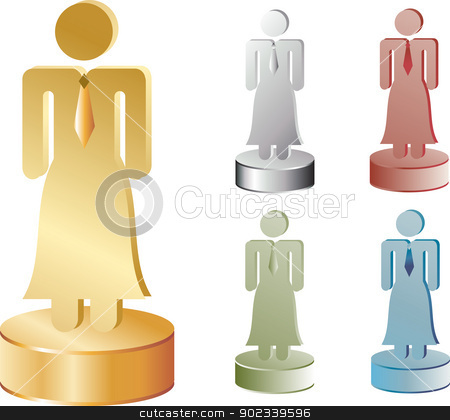 Business Woman Icon stock vector clipart, Business Woman Icon in 5 colors by Messias Bassile Junior