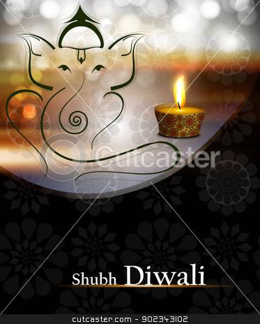 Beautiful artistic wave colorful Hindu Lord Ganesha vector desig