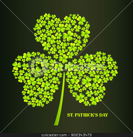 st patrick's day illustration stock vector clipart, vector beautiful st patrick's day illustration by pinnacleanimates