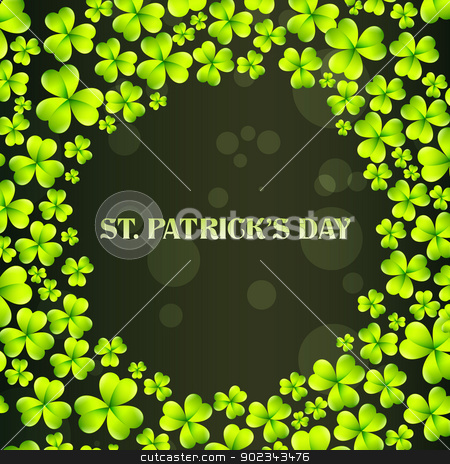 vector st patrick's day design stock vector clipart, vector st patrick's day design with space for your text by pinnacleanimates