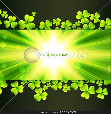 st patrick's day greeting stock vector clipart, st patrick's day greeting with space for your text by pinnacleanimates