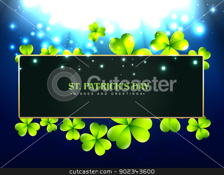 beautiful st patrick's day design stock vector clipart, vector beautiful saint patrick's day design with space for your text by pinnacleanimates