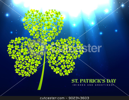 saint patrick's day stock vector clipart, vector saint patrick's day design illustration by pinnacleanimates