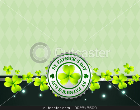 vector st patrick's day design illustration stock vector clipart, saint patrick's day vector design illustration by pinnacleanimates
