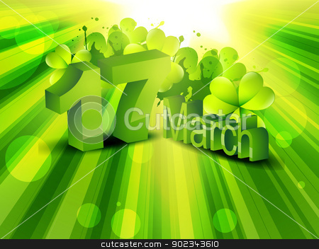 saint patrick's day stock vector clipart, vector 17th of march saint patrick's day design illustration by pinnacleanimates