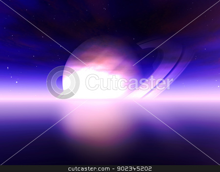 Vorlon Sphere stock photo, 3D rendered Illustration. Scifi scenery.  by Michael Osterrieder